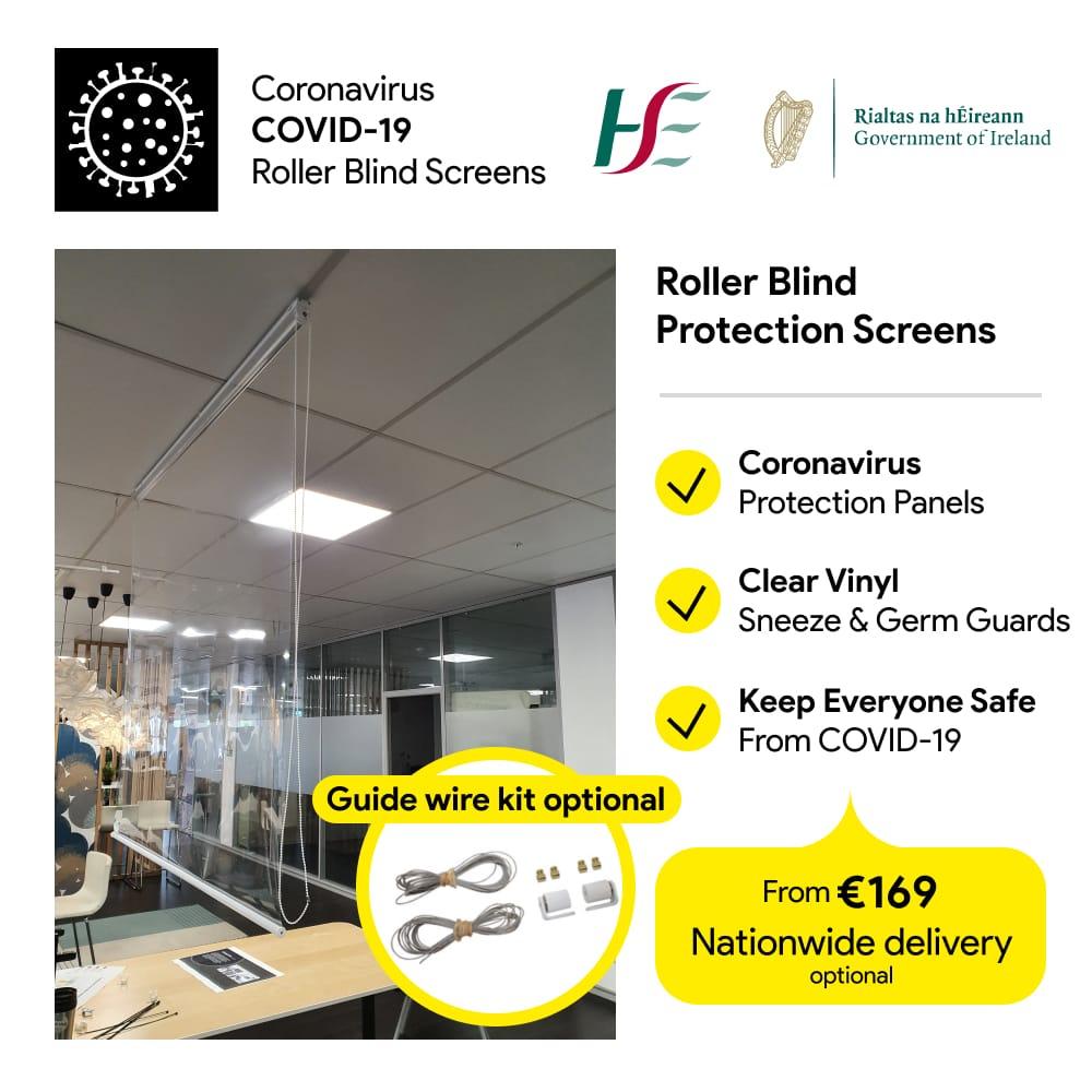 Roller Blind Hygiene Screens